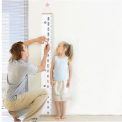 Kids Baby Height Growth Chart-Roll Up Wood Frame Fabric Hanging Ruler Children Nursery Room Wall Decor Baby Shower Gift, 200cm x 7.23cm
