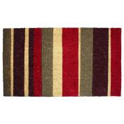 J & M Home Fashions Multi Stripe Vinyl Back Coco Doormat, 46cm by 80cm