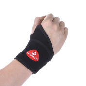 Breathable Wrist Support, Eleoption Neoprene Carpal Tunnel Brace Wrist Wraps Supports Gym Training Arthritis Sprain Strain Fully Adjustable Easy Fit for protection and recovery, black