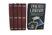 """MBI Photo Library 4 Padded Albums with """"Flip-Up"""" pages holding a Total of 240 3.5"""" x 5"""" Instamatic, Disc and 35mm Photos"""