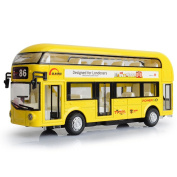 Axier Double-decker Bus Alloy Car model £¬ Tour Sightseeing Bus Die-Cast Toy, Vehicle Boxed for Kids 3 Years and up