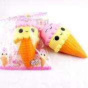 Emoji Squishy Toy, UBuyit Cute Jumbo Ice Cream Squeeze Toy Slow Rising Healing Toy Stress Reliever Decor Simulation Kid
