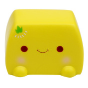 Neenooned Soft Slow Rising Squishy Chinese Tofu Adorable Expression Smile Stress Relief Fun Toy
