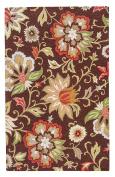 Jaipur Living Zamora Hand-Tufted Floral & Leaves Brown Area Rug