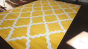 Generations Contemporary Pattern Modern Area Rug, 4m x 4.9m, Bumblebee Yellow/White