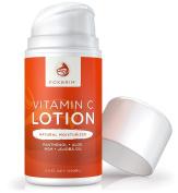 Vitamin C Lotion - Natural Face Moisturiser - POWERFUL Antioxidants Vitamin C & Green Tea - Hydrating Jojoba Oil, Shea Butter - Restoring Panthenol & MSM - Foxbrim 100ml