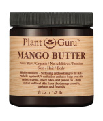 Mango Body Butter 240ml 100% Pure Raw Fresh Natural Cold Pressed. Skin Body and Hair Moisturiser, DIY Creams, Balms, Lotions, Soaps.