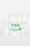 Playside Creations VBS and Camp Crafts, Interlocking Containers, 240mls, Clear, 6 Count