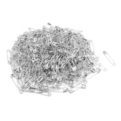 Home Mart Metal Clothing Trimming Fastener Clip Button Safety Pins 500pcs Silver Tone