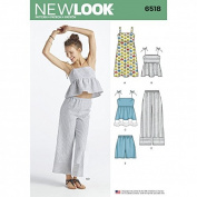 New Look Ladies Sewing Pattern 6518 Dress, Tops, Pants & Shorts