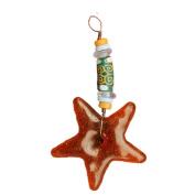 Global Craft Strength Star Ornament Amber - Global Mamas