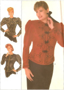Simplicity vintage 1980s sewing pattern 8361 leg-o-mutton jackets - Size 14