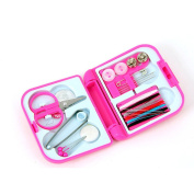 Portable Needle Threads Sewing Kits with Box Threads Scissor Thimble Home Tools,random colour