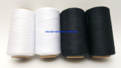 4 Tubes Spun Polyester Serger, Quilting & Sewing Thread 4 Tubes 1000 Yds. Each - BLACK & WHITE Thread!