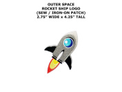 Rocket Ship Outer Space DIY Embroidered Sew or Iron-on Applique Patch Outlander Gear
