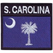South Carolina Badge Flag Embroidered Sew On Patch