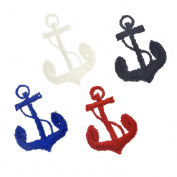 100 pcs Embroidered Ship Anchor Sew On Appliques Wholesale Patches