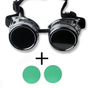 FIRSTLIKE Retro silver grey frame colour lens steam punk welding Gothic gorgeous costume clothing accessories