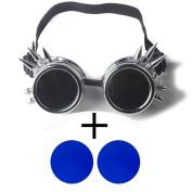 FIRSTLIKE retro silver frame steam punk corner Victoria Victoria gorgeous clothing accessories + colour lenses
