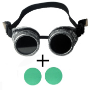 FFIRSTLIKE retro ancient silver frame steam punk solder gorgeous clothing accessories + colour lenses