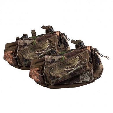 Summit Deluxe Mossy Oak Camo TreeStand Side Bags with New and Improved Outside and Inside Zippered Pockets , Pair of Hunting Bags