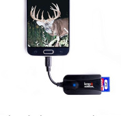 Leap Outdoors Trail Camera Viewer for Android Phones, View Photos and Videos, SD and Micro SD Memory Card Reader works with any trail camera – a deer hunter wildlife scouting must have!