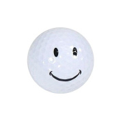 Nitro Novelty Golf Balls Happy Face Display Tube (3 Pack), White/Yellow/Pink