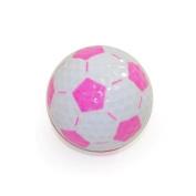 Nitro Novelty Golf Balls Nitro, Novelty Golf - Soccer Balls, 3 Pack Tube, White/Pink