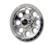 "Madjax 7.6cm - 60cm Beadlock A/T "" Chrome Wheel Covers Fits All Carts with 25cm Wheels"
