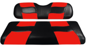 Madjax RIPTIDE 1994-Up Black/Red Two-Tone Front Seat Covers for EZGO TXT and RXV Golf Carts