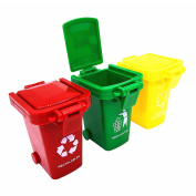 Trash Can Toy,Garbage Truck's Trash Cans,Original Colour Mini Curbside Garbage Bin Trashcan Kids Toddlers Toys