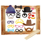 OULII Photo Booth Props Large Picture Frame Wedding Photo Props Funny Faces Party Favours Pack 24pcs