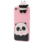 Squishy Toys, Decompression Toys, Jaminy 3D Cartoon Animals Cute Bare Bears Soft Silicone Case For IPhone 6/6s Plus 5.5