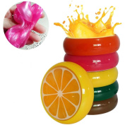 6PC Fruit Crystal Clear Slime Magic Clay Scented Stress Relief Toy for Kids Adults by Keepwin