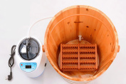 HINEW Chinese fir Foot Bath Spa home Wood basin wood barrel with a Hot Mist Steamer