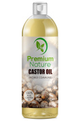 Premium Nature Castor Oil 470ml - Carrier Oil, Stimulates Hair Growth, Conditions Hair, Heals Inflamed Skin, Nourishes & Moisturises Skin, Fades Blemishes 470ml Clear