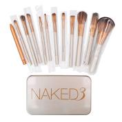 Makeup Brushes Set - Professional Bamboo Handle Kabuki Makeup Brush Foundation Blending Blush Powder Brush Cosmetics Brushes Set with Box by NAKED3