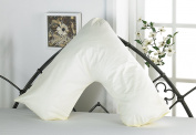 V Shaped Pillow With FREE Cover In 7 Colours Maternity And Orthopaedic Pillow