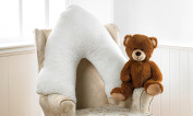 V Shaped Pillow Luxurious Teddy Bear Fabric Orthopaedic Pillow Free UK Delivery