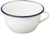 """ibili """"Blanca"""" Enamelled Steel Chamber Pot, White/Blue, 3.5 Litre"""