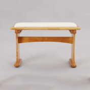 ZEMIN Creative Solid Wooden Soft Surface Stool Household Simple Living Room Furniture, 2 Colours Available, 68*30*42CM