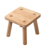 ZEMIN Solid Wooden Small Round Square Stool Cute Child Dining Living Room Study, 2 Colours, 2 Sizes Available