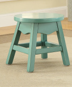 ZEMIN Solid Wooden Small Round Stool Household Simple Child Living Room Study Furniture, 2 Colours Available, 30*30CM