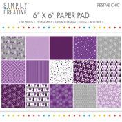 Premium Craft Paperstock Simply Creative 15cm x 15cm Festive Chic Scrapbook Paper
