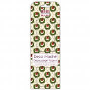 Holly Wreath Deco Mache x 3 Christmas Paper Sheets Tissue Patch Trimcraft