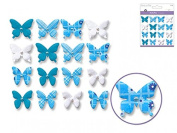 Craft Decor Handmade Paper Butterfly Embellishments Lilacs - per pack of 16