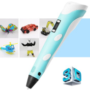 3D Pen, Kaotoer 3D LCD Printing Pen,1.75mm 3D PLA ABS Drawing Model Making Doodle Arts & Crafts Drawing, Stimulate Childrens Creativity, Improve Spatial Thinking