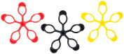 Pure2Improve Unisex Jelly Finger (Pack of 3), Black/Red/Yellow