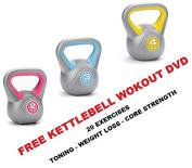 Kettlebell Vinyl Kettlebell 2kg 3kg 4kg Set Kettle Bells Weights