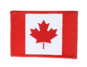 United States Canadian Maple Leaf Country Flag Red and White Uniform Patch